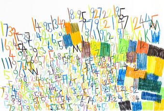 cijfers en vlakken in kleur 9