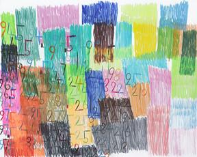 cijfers en vlakken in kleur 8