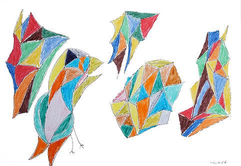 Palmer Nuyttens - vogels in kleurtjes