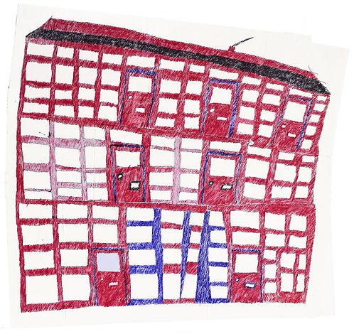 Jan Wuyts - collage van papier met gebouw 4