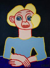 vrouw met blond haar