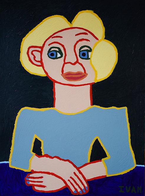 Ivan Vander Vliet - vrouw met blond haar