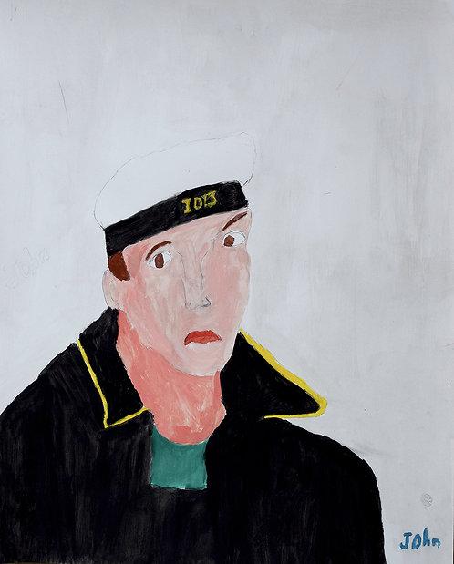 John Van Geesberghen - Matroos op witte achtergrond