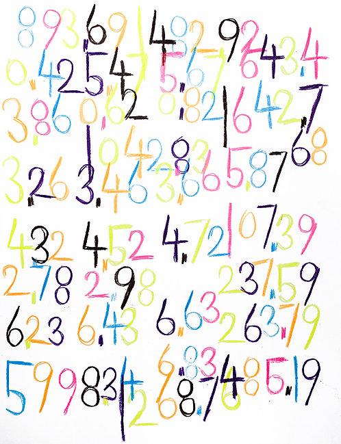 Wytze Hingst - kleurrijke cijfers