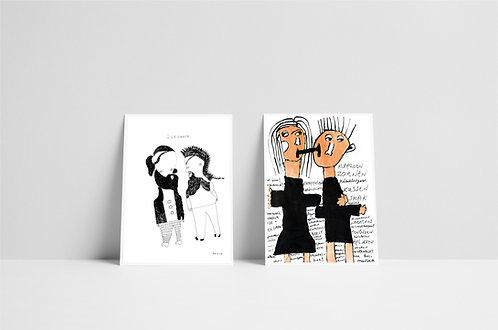 Postkaartenset 1 - vijf stuks - 2020