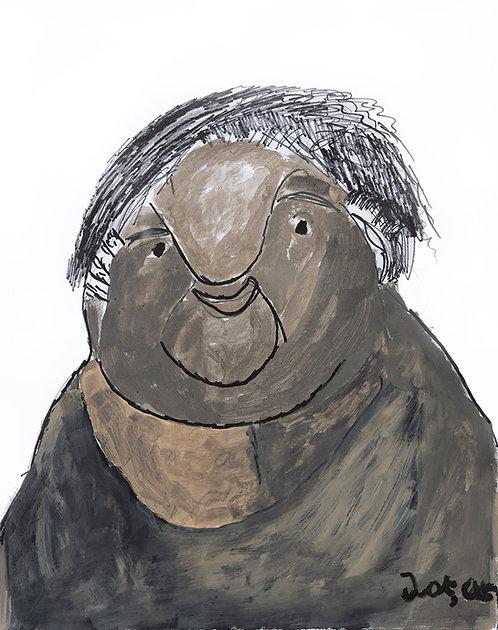 François Oste - portret van een grijze man