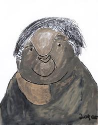 portret van een grijze man