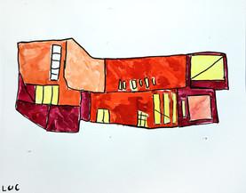 rood gebouw