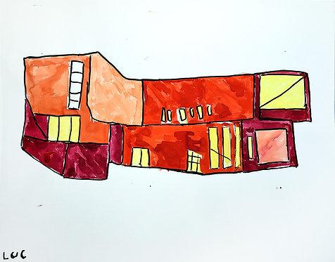 Luc Van Muylder - rood gebouw