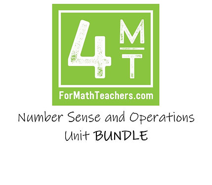 Number Sense and Operations Unit Bundle
