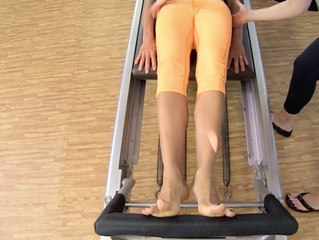 PILATES FOOTWORK ON THE REFORMER