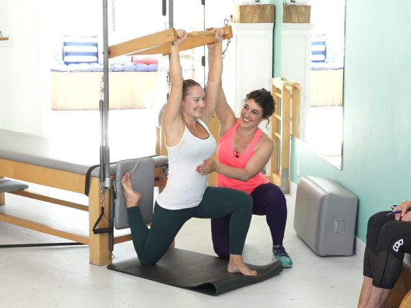 pilates marbella and sciatica exercise on the cadillac