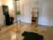 pilates marbella studio showing high chair and mat