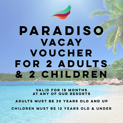 All-Inclusive 5 day/4 night Voucher for 2 Adults & 2 Children