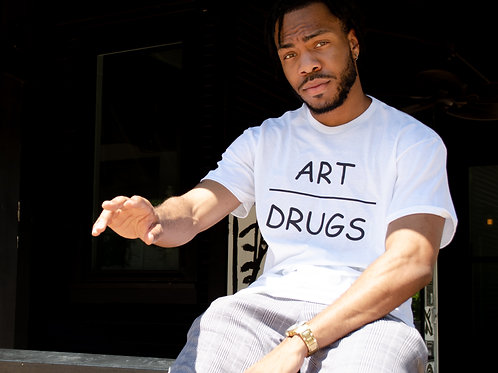 ART OVER DRUGS T SHIRT