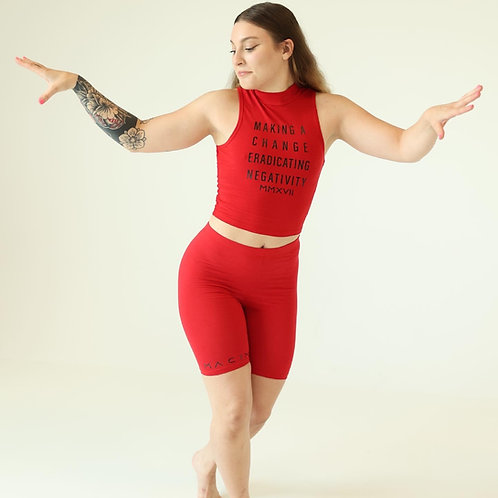 MACEN women's bottoms fitted RED