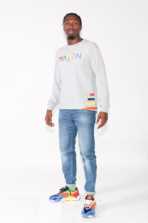 MACEN GRAY MULTICOLOR LONG SLEEVE