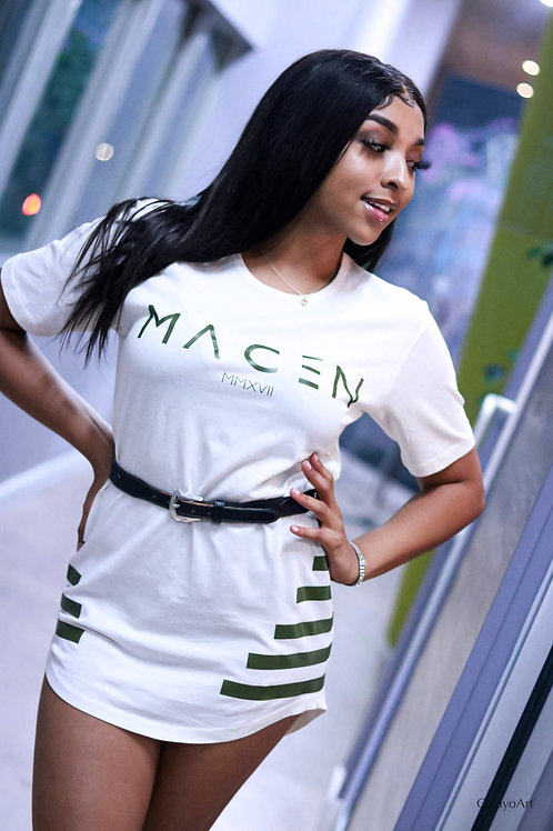 MACEN SPECIAL CUT T SHIRT CREAM