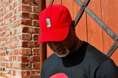 PLUG PHONE DAD HAT RED