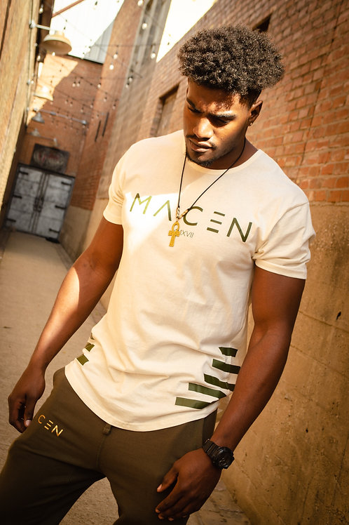 MACEN SPECIAL CUT T SHIRT OLIVE/GREEN