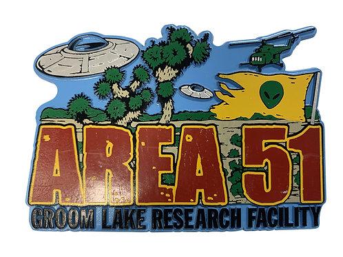 Area 51 Groom Lake Refrigerator Magnet