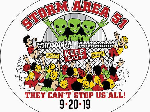 Aliens Storming Area-51 Sticker