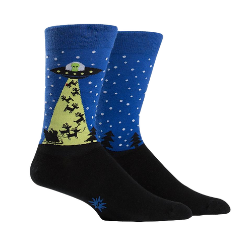 Abduction Blue & Black Socks