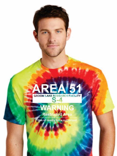 Tye Dye Warning Sign Tee-Shirt