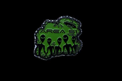 Alien Silhouette Lapel Pin