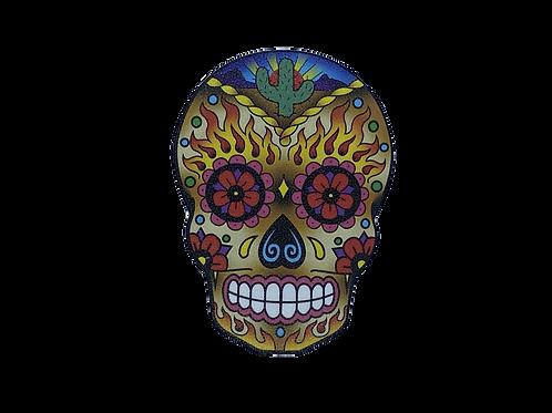 Sugar Skulls Western Funky Chunky Magnet