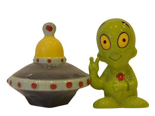 Saucer | Alien Salt & Pepper Shakers