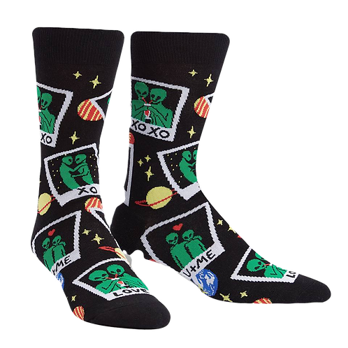 Polaroid Alien Socks