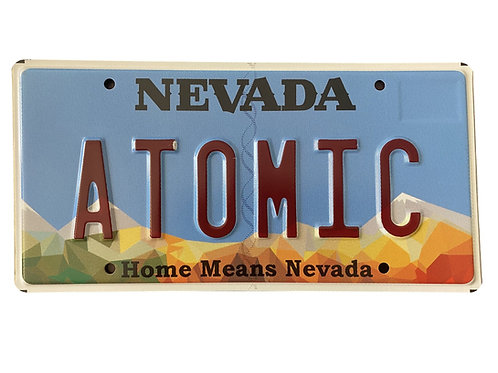 License Plate Atomic