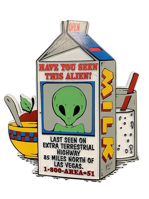 Alien Milk Carton Refrigerator Magnet
