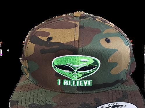 Alien I Believe Camo Hat