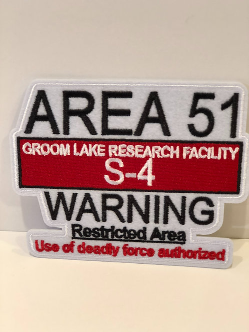 Area 51 Warning Patch