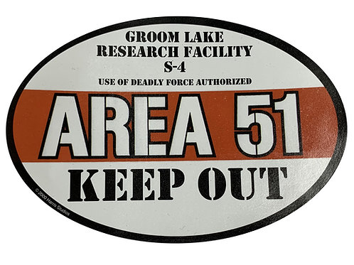 Area 51 Keep Out Sticker
