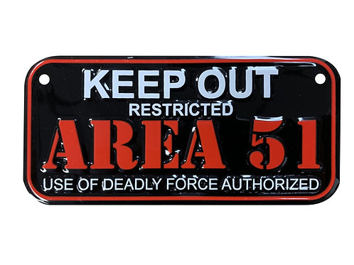 Area 51 Keep Out License Plate