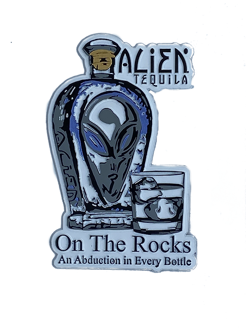 Alien Tequila On The Rocks Magnets