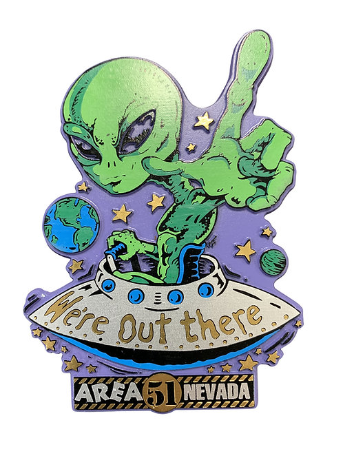 Out There Refrigerator Magnet