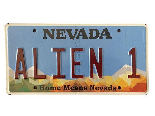 License Plate Alien 1