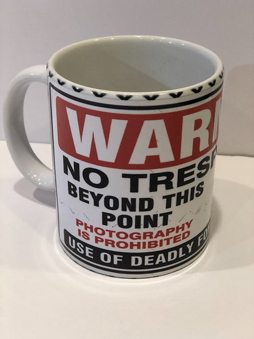No Trespassing Mug