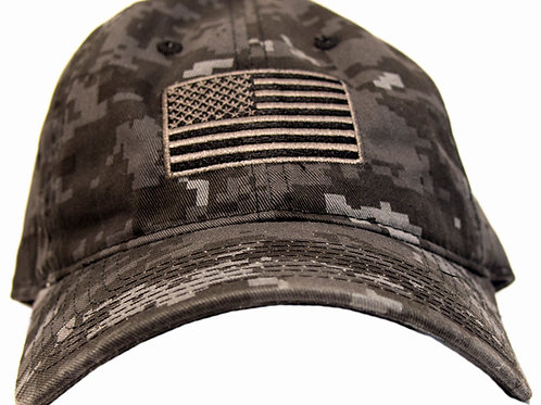 American Flag Black Digital Hat