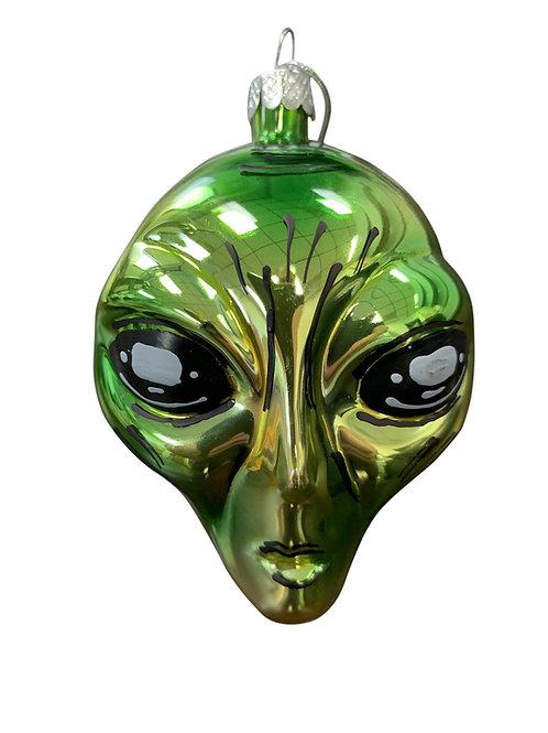 Alien Head Christmas ornament