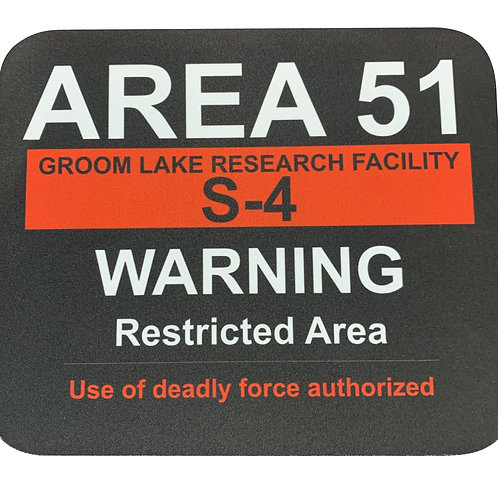 Warning Sign Mouse Pad