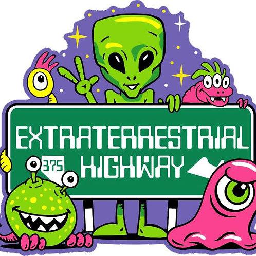 ET Highway Aliens Magnet