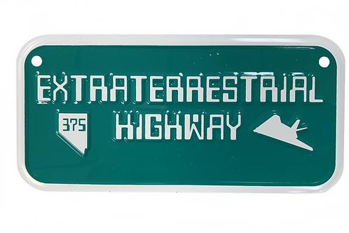 Extraterrestrial Highway Bike Plate