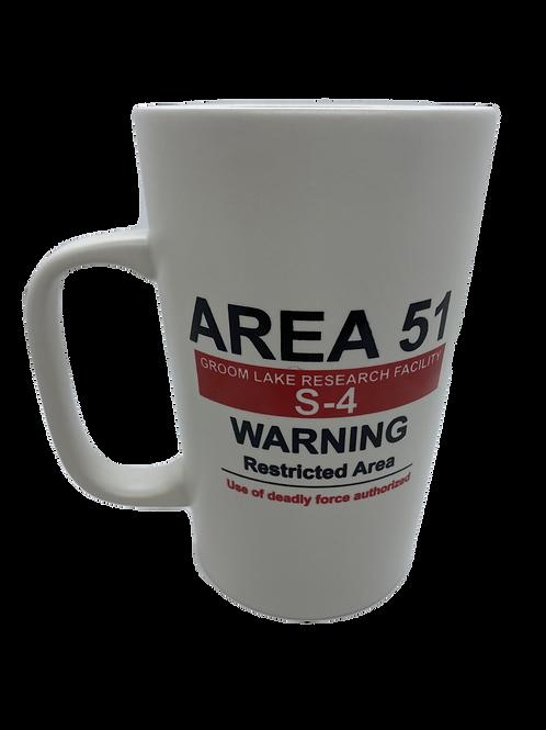 Warning Sign White Metra Mug