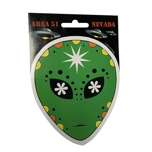 Mellow Alien Head Sticker