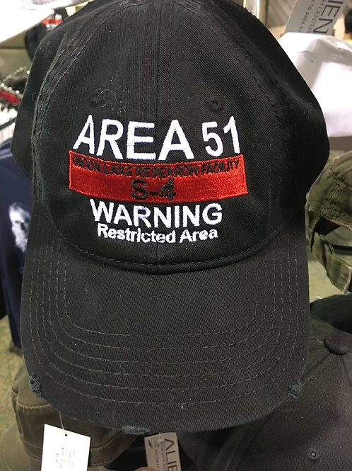 Area 51 Warning Sign Hat